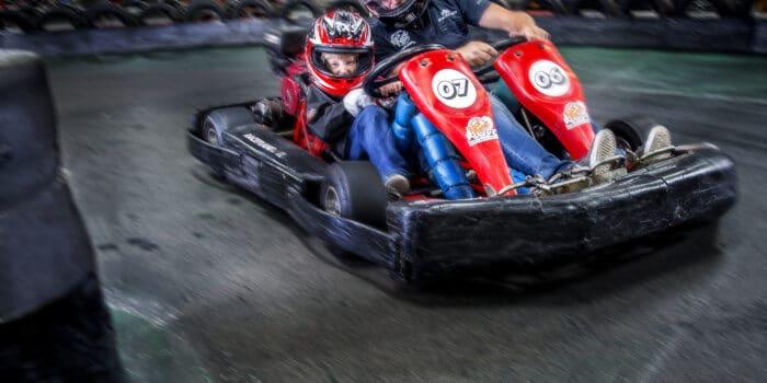 De duokart op de Race Planet kartbaan in Amsterdam voor karten met een beperking.
